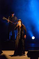 "Teresa Salgueiro performing for the ""Mostra Portuguesa"" in Madrid"