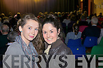 Abbeyfeale friends Ellen Lane and Katie Lane pictured in Athea for a special variety show last Sunday evening.