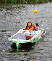 Nederland -  Purmerend - 23 juni  2018.    Solar Sport One race competitie. Het wereldkampioenschap Solar Boat racen. Boten die varen op zonne-energie. Young Solar Challenge slalom.    Foto Berlinda van Dam Hollandse Hioogte