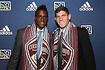 January 17th, 2013: Colorado Rapids draft picks. #6 Deshorn Brown (JAM) (left) and #11 Dillon Powers (right). The 2013 MLS SuperDraft was held during the NSCAA Annual Convention held in Indianapolis, Indiana.