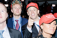 People celebrate as it becomes clear that Republican presidential nominee Donald Trump has won the election in the ballroom in the Midtown Hilton at the election night victory rally for Republican presidential nominee Donald Trump, soon before the presidential race was called for Trump in the early hours of Nov. 9, 2016.