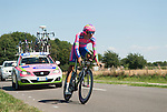 SITTARD, NETHERLANDS - AUGUST 16: Luca Wackermann of Italy riding for Lampre-Merida competes during stage 5 of the Eneco Tour 2013, a 13km individual time trial from Sittard to Geleen, on August 16, 2013 in Sittard, Netherlands. (Photo by Dirk Markgraf/www.265-images.com)