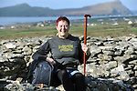 Hundreds of walkers donned their hiking boots and headed to the hills around Mount Brandon in West Kerry for the Dingle Walking Festival over the weekend. Our photograph shows Sarah Varian-Barry from Cork taking a well earned break at Reask Monastic Site in West Kerry on Sunday..Picture by Don MacMonagle