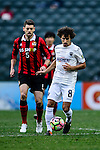 Auckland City Midfielder Albert Riera (r) in action during the 2017 Lunar New Year Cup match between Auckland City FC (NZL) vs FC Seoul (KOR) on January 28, 2017 in Hong Kong, Hong Kong. Photo by Marcio Rodrigo Machado/Power Sport Images