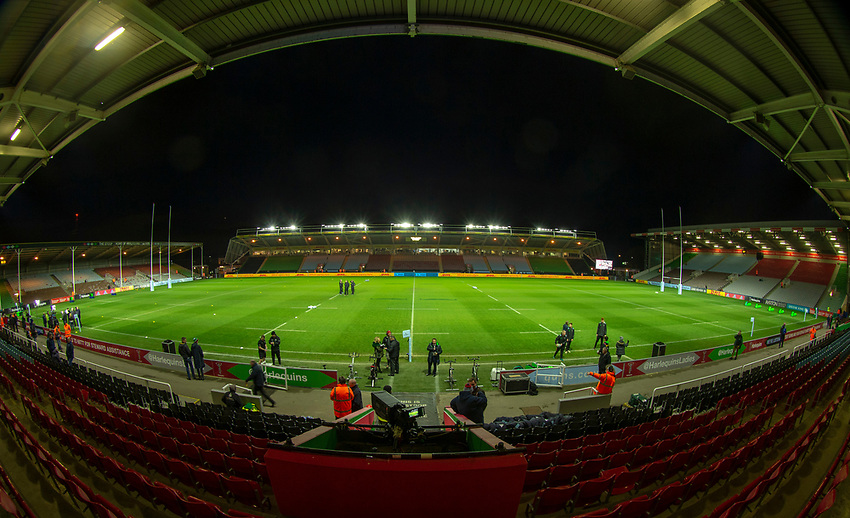 A general view of The Stoop, home of Harlequins<br /> <br /> Photographer Bob Bradford/CameraSport<br /> <br /> Gallagher Premiership Round 9 - Harlequins v Exeter Chiefs - Friday 30th November 2018 - Twickenham Stoop - London<br /> <br /> World Copyright © 2018 CameraSport. All rights reserved. 43 Linden Ave. Countesthorpe. Leicester. England. LE8 5PG - Tel: +44 (0) 116 277 4147 - admin@camerasport.com - www.camerasport.com