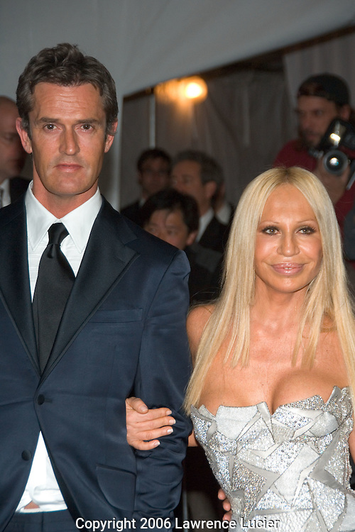Rupert Everett and Donatella Versace