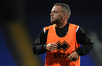 Blackpool's Jay Spearing during the pre-match warm-up <br /> <br /> Photographer Kevin Barnes/CameraSport<br /> <br /> The EFL Sky Bet League One - Bolton Wanderers v Blackpool - Monday 7th October 2019 - University of Bolton Stadium - Bolton<br /> <br /> World Copyright © 2019 CameraSport. All rights reserved. 43 Linden Ave. Countesthorpe. Leicester. England. LE8 5PG - Tel: +44 (0) 116 277 4147 - admin@camerasport.com - www.camerasport.com