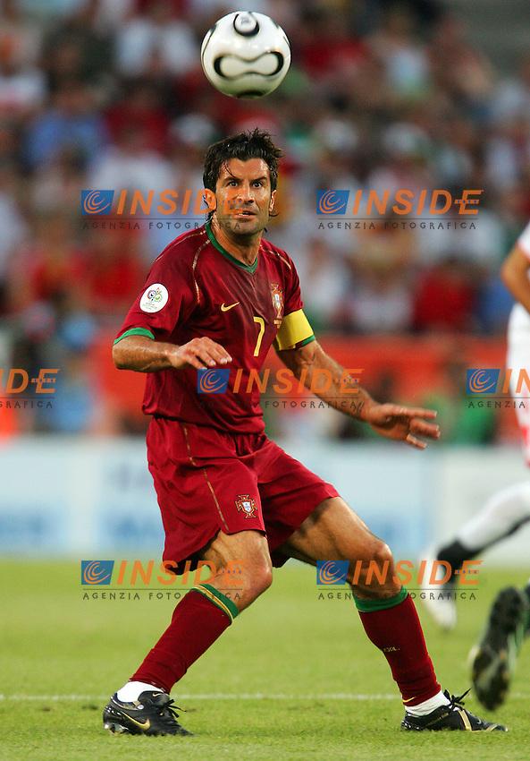 Koln 11/6/2006 World Cup 2006.Angola Portugal - Angola Portogallo 0-1.Photo Andrea Staccioli Insidefoto.Luis Figo Portogallo