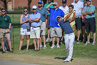 C.T. Pan (TAI) hits his approach shot on 1 during round 3 of the Fort Worth Invitational, The Colonial, at Fort Worth, Texas, USA. 5/26/2018.<br /> Picture: Golffile | Ken Murray<br /> <br /> All photo usage must carry mandatory copyright credit (&copy; Golffile | Ken Murray)