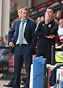 Stevenage manager Gary Smith and assistant manager Mark Newson. - Walsall v Stevenage - npower League 1 - Banks's Stadium, Walsall - 24th March, 2012  .© Kevin Coleman 2012