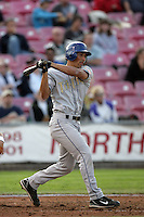 July 8 2009:  of the Tri City Dust Devils bats against the Salem-Kaizer Volcanoes at Volcano  Stadium in Kaizer,OR.  Photo by Larry Goren/Four Seam Images
