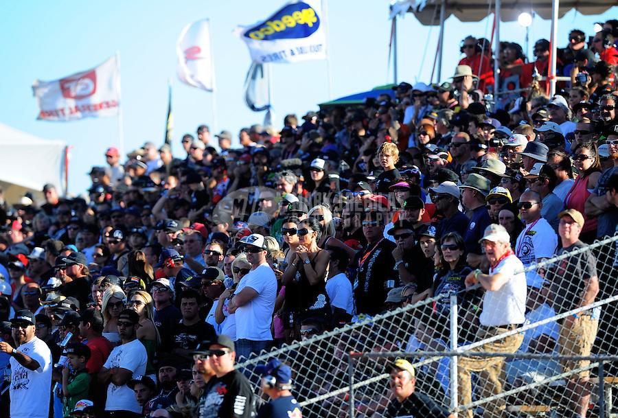 Apr 16, 2011; Surprise, AZ USA; LOORRS fans during round 3 at Speedworld Off Road Park. Mandatory Credit: Mark J. Rebilas-