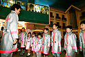 "KIDZANIA TOKYO, ""Edutainment City"",.children receiving fireman training at the Fire Academy."