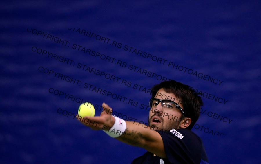 Tenis, Gemax Open 2009, Challanger.Janko Tipsarevic.Beograd, 17.02.2009. .Photo: © Srdjan Stevanovic/Starsportphoto.com