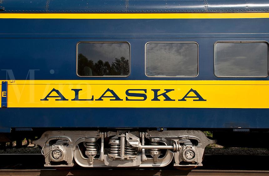 Alaska railroad train car.