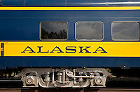 Alaska railroad train car.