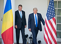 President Donald Trump joint press conference with President Klaus Werner Ioannis of Romania