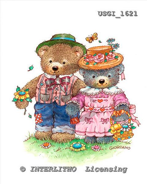 GIORDANO, CUTE ANIMALS, LUSTIGE TIERE, ANIMALITOS DIVERTIDOS, Teddies, paintings+++++,USGI1621,#AC# teddy bears