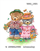 GIORDANO, CUTE ANIMALS, LUSTIGE TIERE, ANIMALITOS DIVERTIDOS, Teddies, paintings+++++,USGI1621,#AC# teddy bears
