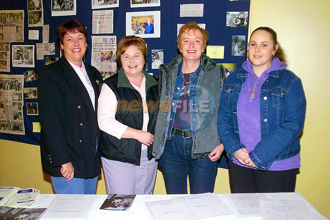 Bernie O'Brien, Angie Fitzpatrick, Eileen Dunne and majella Sullivan at the lifestyle Group renunion in the West court Hotel..Picture  Newsfile.