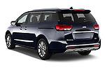 Car pictures of rear three quarter view of a 2015 KIA Sedona LX Hybrid 5 Door Mini Van angular rear