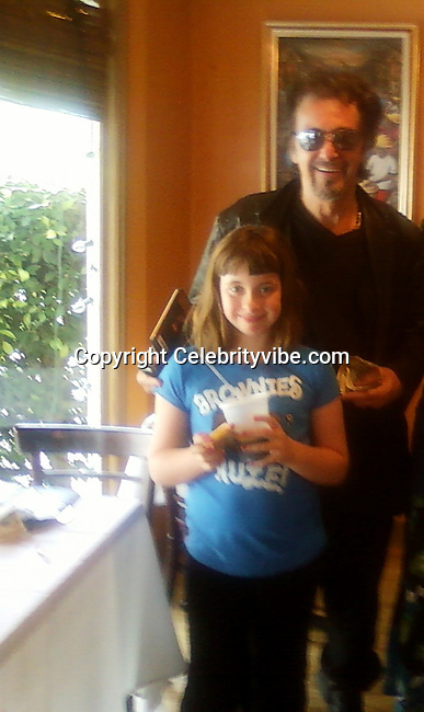 Al Pacino and Daughter Olivia Rose.Al Pacino and Daughter Olivia Rose, mother is actress Beverly D'Angelo, stopped by Haitian Caribbean Restaurant Kassava.West Hollywood, CA, USA.Saturday, April 02, 2011.Photo By CelebrityVibe.com.To license this image please call (212) 410 5354; or Email: CelebrityVibe@gmail.com ; website: www.CelebrityVibe.com**EXCLUSIVE**