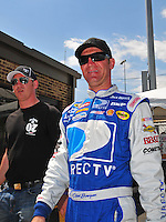 May 30, 2008; Dover, DE, USA; Nascar Sprint Cup Series driver Clint Bowyer during qualifying for the Best Buy 400 at the Dover International Speedway. Mandatory Credit: Mark J. Rebilas-