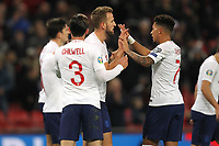 England celebrate after Harry Kane (2nd R) scored to make it 2-0 during the UEFA Euro 2020 Qualifying Group A match between England and Montenegro at Wembley Stadium on November 14th 2019 in London, England. (Photo by Matt Bradshaw/phcimages.com)<br /> Foto PHC Images / Insidefoto <br /> ITALY ONLY
