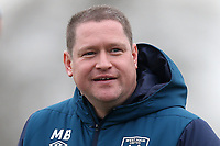 West Ham manager Matt Beard during West Ham United Women vs Arsenal Women, FA Women's Super League Football at Rush Green Stadium on 6th January 2019