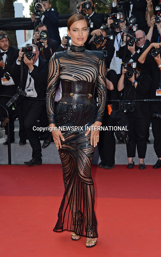 24.05.2017; Cannes, France: IRINA SHAYK<br /> attends the screening of &ldquo;The Beguiled&rdquo; at the 70th Cannes Film Festival, Cannes<br /> Mandatory Credit Photo: &copy;NEWSPIX INTERNATIONAL<br /> <br /> IMMEDIATE CONFIRMATION OF USAGE REQUIRED:<br /> Newspix International, 31 Chinnery Hill, Bishop's Stortford, ENGLAND CM23 3PS<br /> Tel:+441279 324672  ; Fax: +441279656877<br /> Mobile:  07775681153<br /> e-mail: info@newspixinternational.co.uk<br /> Usage Implies Acceptance of Our Terms &amp; Conditions<br /> Please refer to usage terms. All Fees Payable To Newspix International