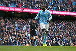 Yaya Toure of Manchester City celebrates scoring the opening goal - Barclay's Premier League - Manchester City vs Aston Villa - Etihad Stadium - Manchester - 05/03/2016 Pic Philip Oldham/SportImage