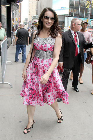 July 31, 2012 Kristin Davis at Good Afternoon America to talk about her  Broadway show the Best Man in New York City. © RW/MediaPunch Inc