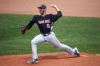 New Britain Rock Cats pitcher Ryan Carpenter (51) delivers a pitch during a game against the Akron RubberDucks on May 21, 2015 at Canal Park in Akron, Ohio.  Akron defeated New Britain 4-2.  (Mike Janes/Four Seam Images)