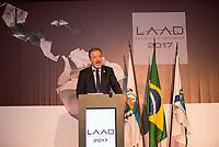 RIO DE JANEIRO, RJ, 04.04.2017 - LAAD-ABERTURA -  Ministro da Defesa Raul Jungmann participa da cerimônia de abertura da LAAD 2017, no Riocentro, Rio de Janeiro, nesta terça-feira, 04. (Foto: Clever Felix/Brazil Photo Press)