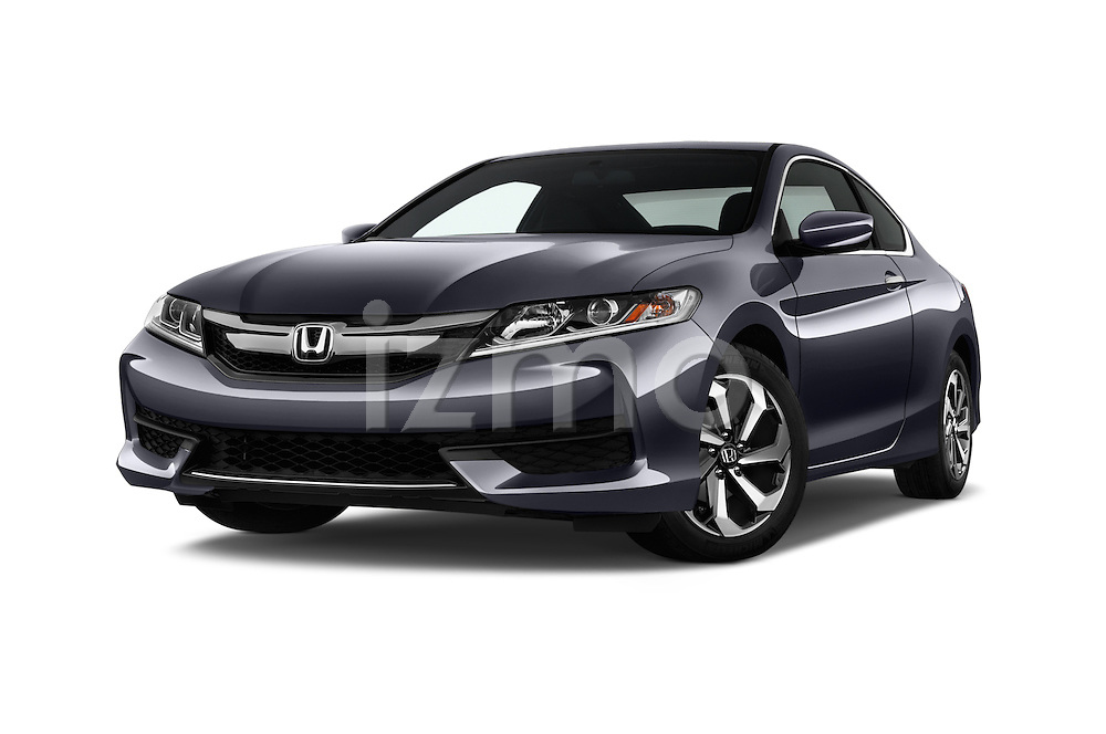 Stock pictures of low aggressive front three quarter view of 2016 Honda Accord LX-S 2 Door Coupe Low Aggressive