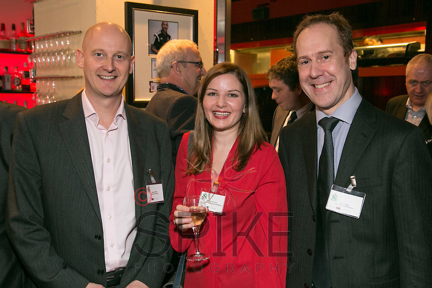 All smiles from James Brady of Bruton Knowles, Rachel O'Conner of Wise Self Wellbeing and Stphen Skibo of Shakespeares Martineau