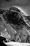 Mount Everest above Lhotse, Nepal