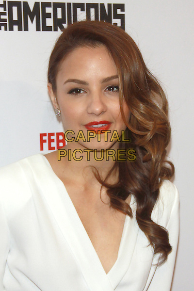 NEW YORK, NY - FEBRUARY 24: Aimee Carrero at  'The Americans' season 2 premiere at the Paris Theater on February 24, 2013 in New York City, NY., USA.<br /> CAP/MPI/RW<br /> &copy;RW/ MediaPunch/Capital Pictures