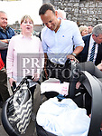 An Taoiseach leo Varadkar meets Lyndsey McHugh and her new twins Sarah and Liam at Fleadh Ceoil na hEireann. Photo:Colin Bell/pressphotos.ie