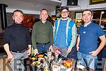 Godo Godaj, Alban Vodopi, Gentrit Mehmeti and Alldraj Sokol enjoying the evening in the Brogue Inn on Friday.