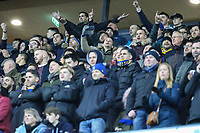 AFC Wimbledon supporters during the Sky Bet League 1 match between MK Dons and AFC Wimbledon at stadium:mk, Milton Keynes, England on 13 January 2018. Photo by David Horn.