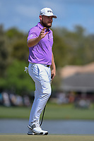Tyrrell Hatton (ENG) after sinking his putt on 6 during round 4 of the Arnold Palmer Invitational at Bay Hill Golf Club, Bay Hill, Florida. 3/10/2019.<br /> Picture: Golffile | Ken Murray<br /> <br /> <br /> All photo usage must carry mandatory copyright credit (© Golffile | Ken Murray)