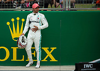 Lewis HAMILTON (GBR) (MERCEDES-AMG PETRONAS MOTORSPORT) during the Formula 1 Rolex British Grand Prix 2019 at Silverstone Circuit, Towcester, England on 14 July 2019. Photo by Vince  Mignott.
