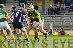 Aidan Boyle Kerry Jason Leahy IT Tralee in the Waterford Crystal Hurling cup in Fitzgerald Stadium on Sunday