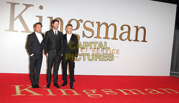 LONDON, ENGLAND - JANUARY 14: Take That attends the World Premiere of 'Kingsman: The Secret Service' at the Odeon Leicester Square on January 14, 2015 in London, England<br /> CAP/ROS<br /> &copy;Steve Ross/Capital Pictures