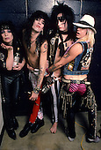 MOTLEY CRUE, BACKSTAGE, 1985, NEIL ZLOZOWER