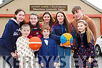Currow basketballers who launched the St Bridgets fashion show which will be held in the River Island Hotel on March 23rd in Currow on Saturday were front row l-r: Kelly Ryan, Charlie Brosnan, Alanna Kelly. Emma Buckley, Danielle Moriarty, Miriam Ryan, Fiona Brosnan and Darragh Kelly