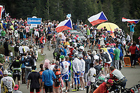 Nicolas Roche (IRL/SKY) coming up through the crowd<br /> <br /> stage 15 (iTT): Castelrotto-Alpe di Siusi 10.8km<br /> 99th Giro d'Italia 2016