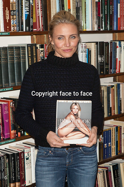 NEW YORK, NY - JANUARY 13: Cameron Diaz promotes her new book 'The Body Book: The Law of Hunger, the Science of Strength and Other Ways to Love Your Amazing Body' at Book Revue on January 13, 2014 in Huntington, New York. <br /> Credit: MediaPunch/face to face<br /> - Germany, Austria, Switzerland, Eastern Europe, Australia, UK, USA, Taiwan, Singapore, China, Malaysia, Thailand, Sweden, Estonia, Latvia and Lithuania rights only -