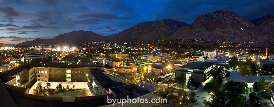1210-40 007.TIF<br /> <br /> GCS Campus Panoramic at night  with Y lit during homecoming week from the SWKT.<br /> <br /> October 9, 2012<br /> <br /> Photography by Mark A. Philbrick<br /> <br /> Copyright BYU Photo 2012<br /> All Rights Reserved<br /> photo@byu.edu  (801)422-7322